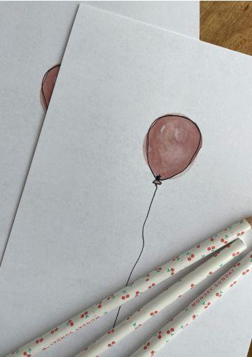 Fødselsdagskort fra Anetmai trykt på miljøvenligt papir.
