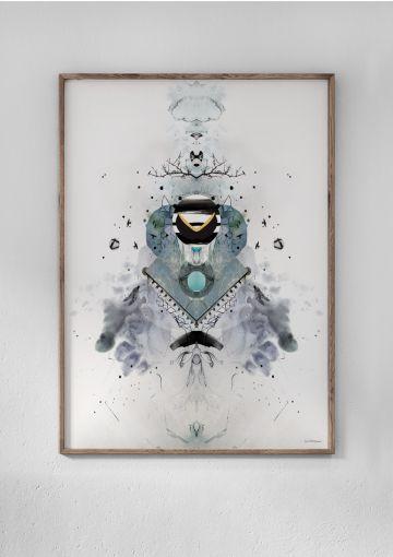 Collage fra Anetmai trykt på miljøvenligt papir. Hos Anetmai kan du tilkøbe en ramme til din plakat. Vores rammer findes i 3 forskellige kvaliteter.