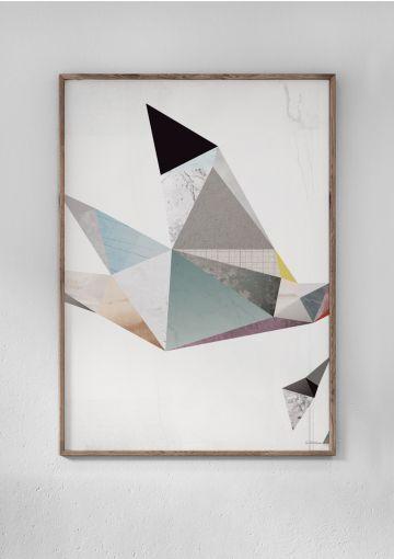 Miljøvenlig plakat fra Anetmai. Opfordringen lyder på at turde tage chancen, folde vingerne ud og mærke suset af egen frihed.