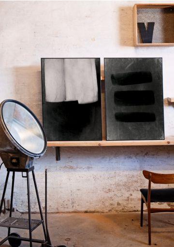 Smukke plakater fra Anetmai med ro, enkelthed og harmoni. Designet af Anne Mark Møller.